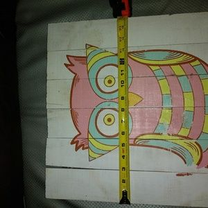 Kid S Room Whimsical Wooden Owl Picture Nwt